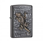 Zapalniczka Zippo Grey Dusk gecko Emblem 33504