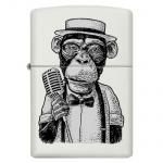 Zapalniczka Zippo biały mat Vintage Monkey 45718