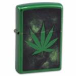 Zapalniczka Zippo Meadow zielony mat Leaf Design 92275